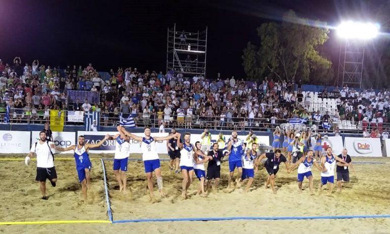 Beach handball: Χρυσοί οι άνδρες στην Πάτρα (vid)