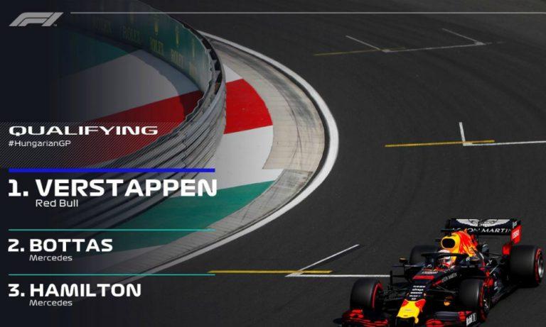 Formula 1: Πρώτος ο Φερστάπεν στην Ουγγαρία