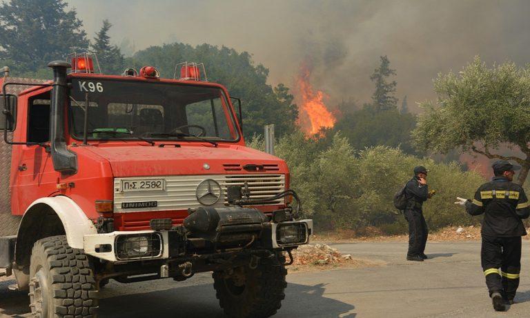 Φωτιά τώρα στα Καλάβρυτα: Σε δύσβατη περιοχή