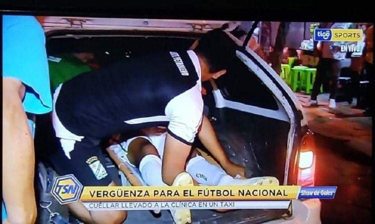 Ποδοσφαιριστής έπαθε κάταγμα και πήγε στο νοσοκομείο με τάξι! (vid)