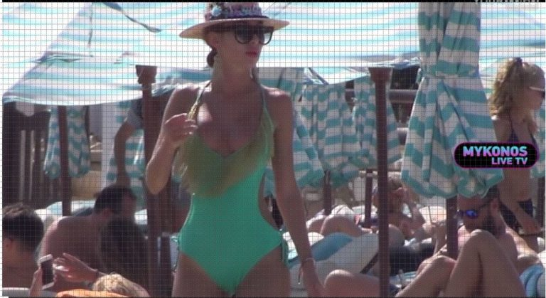 Mykonos Live TV:Ποια είναι η εντυπωσιακή Ρωσίδα που «τρέλανε» την Ψαρρού; (vid)
