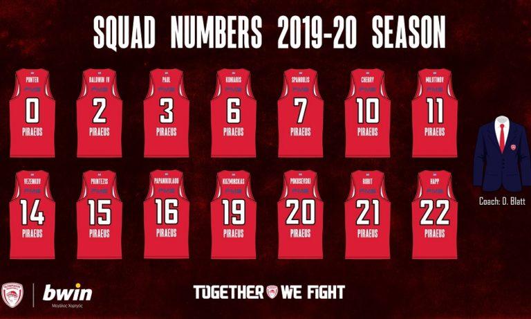 Ολυμπιακός: Οι αριθμοί των παικτών (pic)