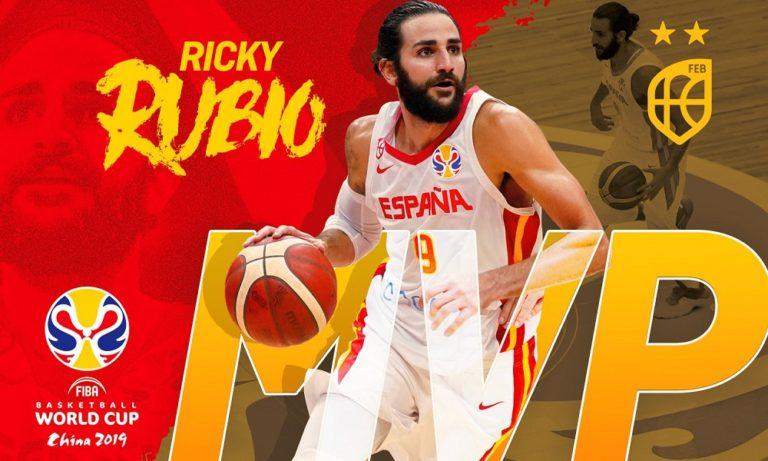 Μουντομπάσκετ 2019: MVP ο Ρούμπιο και η κορυφαία πεντάδα (vid)