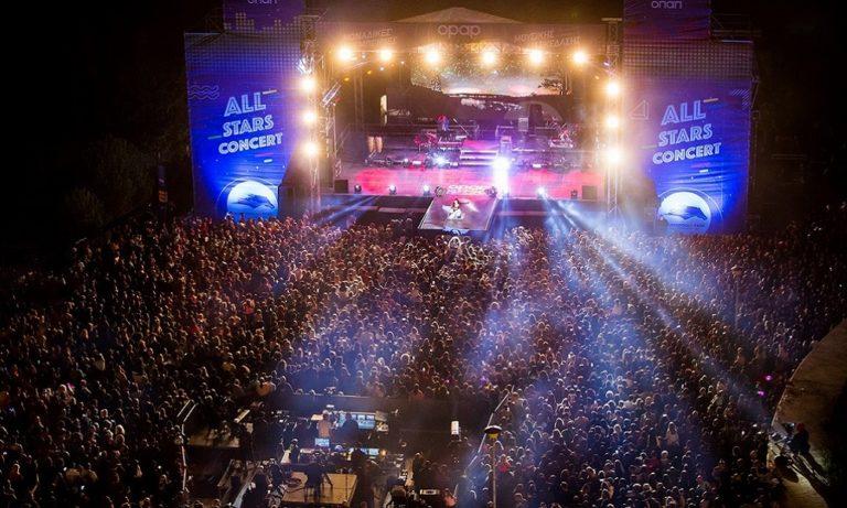 Αll Stars Concert: Σάκης Ρουβάς, Έλενα Παπαρίζου και Ελένη Φουρέιρα ξεσηκώσαν περισσότερους από 12.000 θεατές στο Μarkopoulo Park –  Δείτε τι έγινε στο show της χρονιάς από τον ΟΠΑΠ