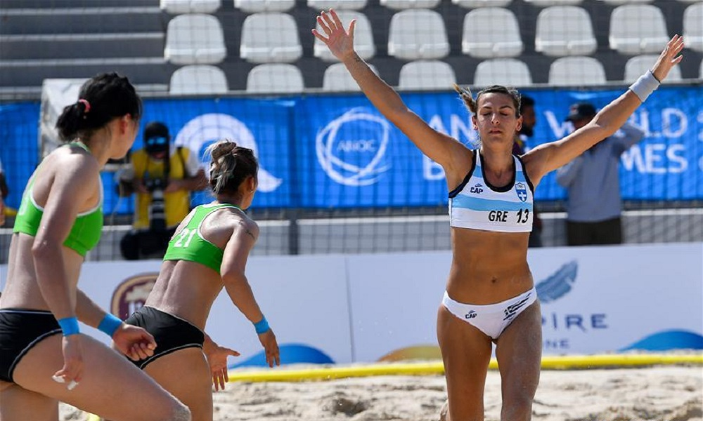 World Beach Games: Συνεχίζουν ακάθεκτες οι Ελληνίδες