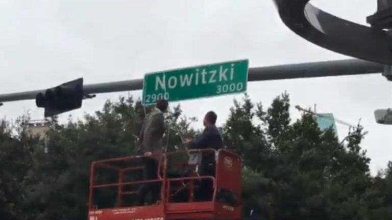 Ο Νοβίτσκι εγκαινίασε τον δρόμο με το όνομά του! (vid)