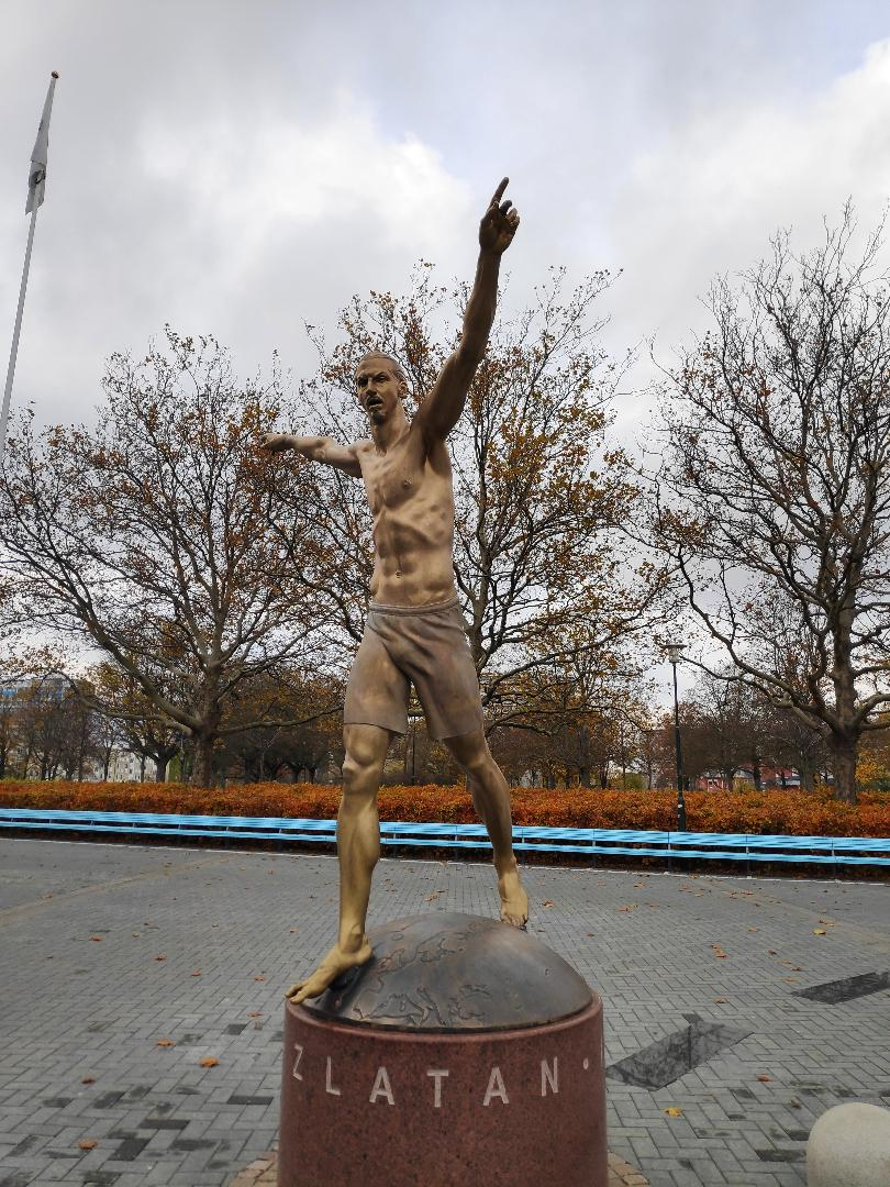 Zlatan Ibrahimovic Statue @ Malmo, Sweden. Photo By Spyros Yannopoulos