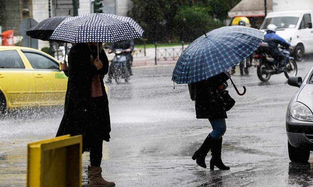 Καιρός: Ισχυρές βροχές και καταιγίδες με πτώση της θερμοκρασίας