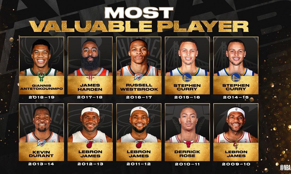 NBA: Όλοι οι MVP's της δεκαετίας που φεύγει (pic)