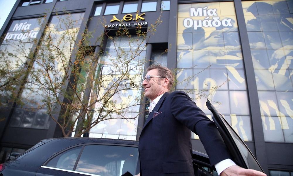 ΑΕΚ: Στα γραφεία ο Μάσιμο Καρέρα (pics)