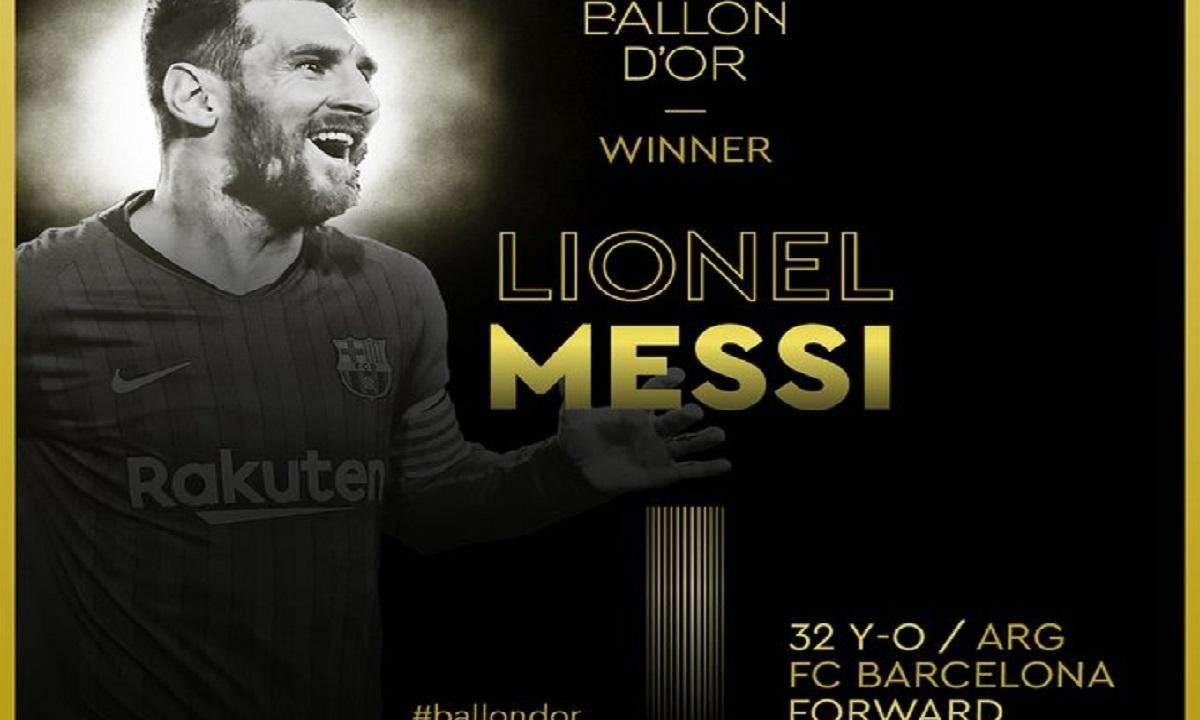 Χρυσή Μπάλα 2019: Κορυφαίος ο Λιονέλ Μέσι για 6η φορά! (vids)