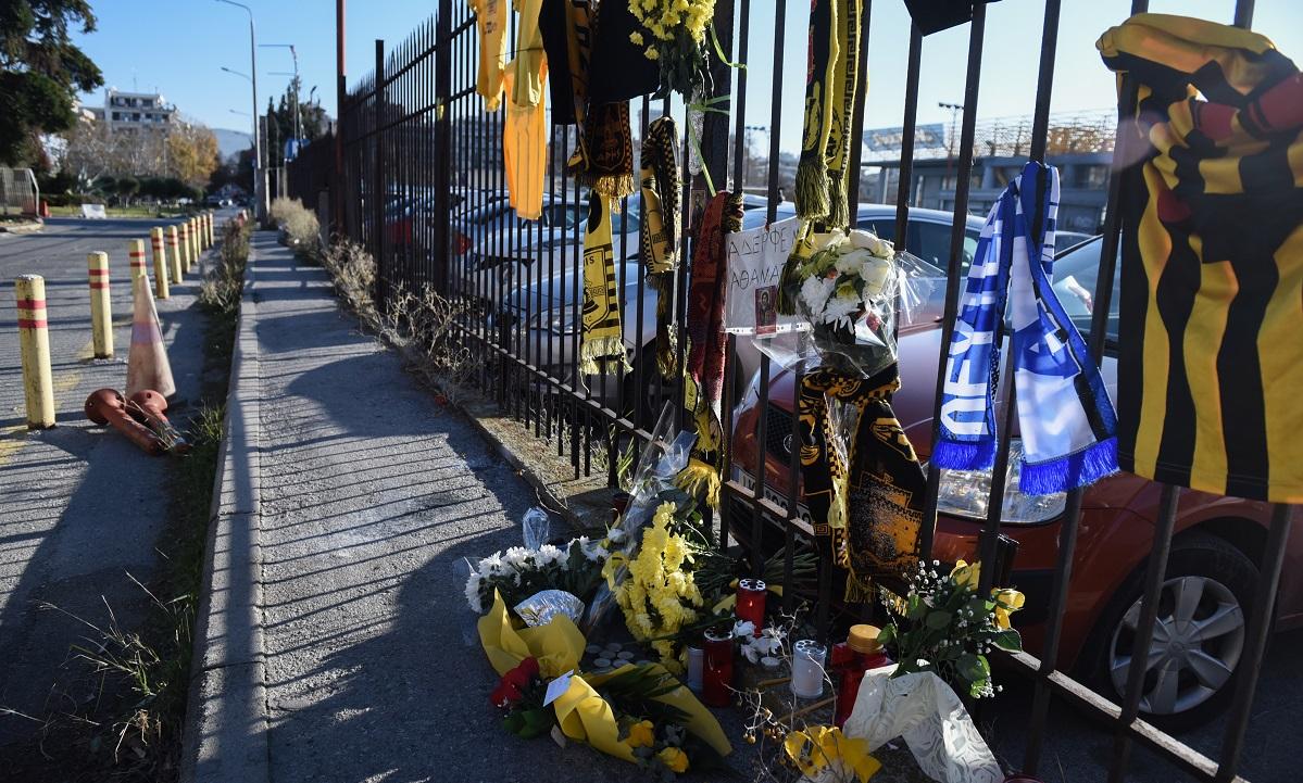 Απαράδεκτο! Άφησαν φέιγ βολάν του ΠΑΟΚ εκεί που πέθανε ο Τόσκο (pic)