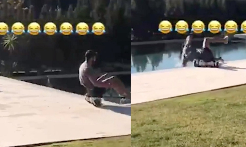 Ο Ντιέγκο Κόστα έπεσε με go-kart μέσα στην πισίνα! (vid)