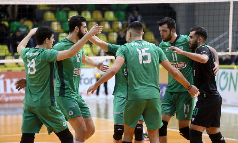 Volley League: Μόνος πρώτος ο Παναθηναϊκός