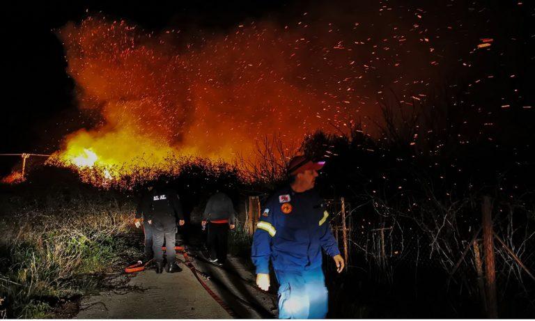 Πυρκαγιά στην Αργολίδα: Απειλήθηκαν σπίτια