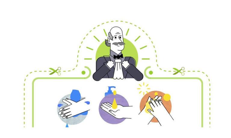 Google Doodle: Έτσι πλένουμε τα χέρια μας – Ποιος είναι ο Ignaz Semmelweis