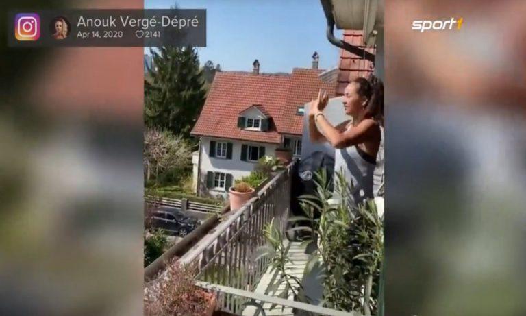 Βόλεϊ: Η μία στον κήπο, η άλλη στο μπαλκόνι! (vid)