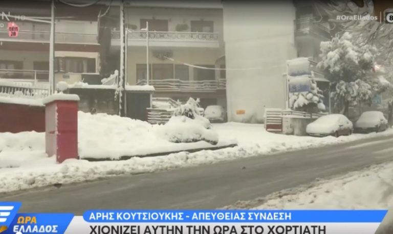 Το… έστρωσε στον Χορτιάτη: Έντονη χιονόπτωση και 30 πόντοι χιόνι! (vid)