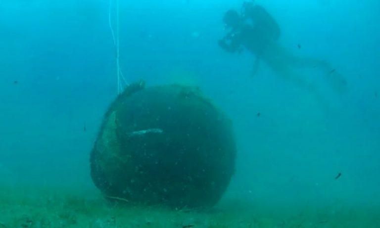 Νέα Μηχανιώνα: Ψαράδες βρήκαν νάρκη ενός τόνου