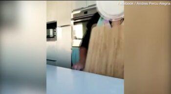 Πήγε να φτιάξει ψωμί και ο δίσκος της ήρθε στη μάπα! (vid)