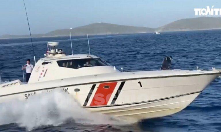 Απίστευτη πρόκληση Τούρκων -Παρενοχλούν Έλληνες ψαράδες στις Οινούσσες (vid)
