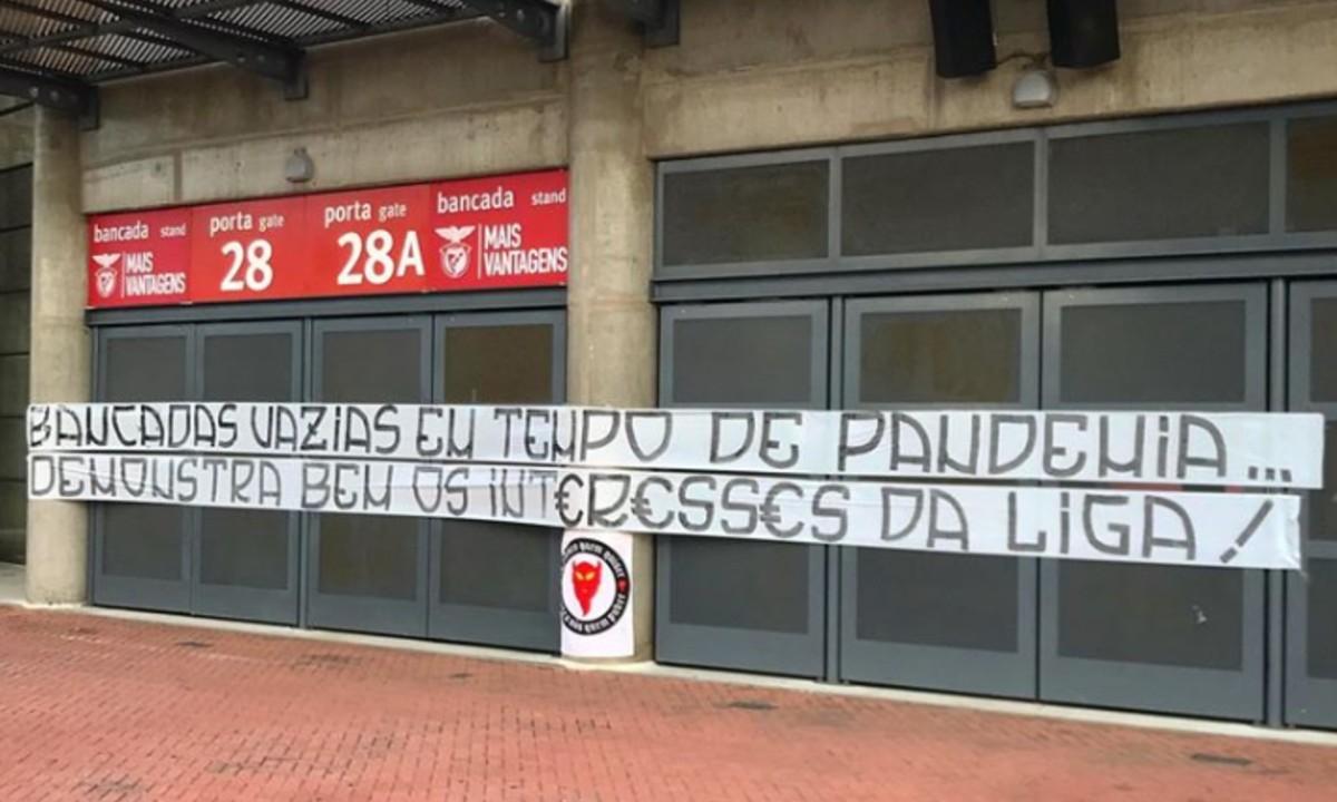 Μπενφίκα: Ξεσηκωμός των οπαδών κατά της επανέναρξης του πρωταθλήματος (pics)