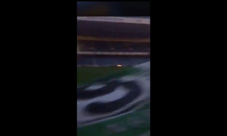 Οπαδός της Σέλτικ μπήκε με σημαία στο γήπεδο των Ρέιτζερς (vid)