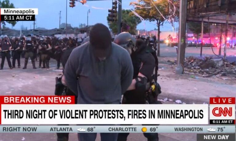 Απίστευτο: Σύλληψη σε live μετάδοση του συνεργείου του CNN στη Μινεάπολη (vid)