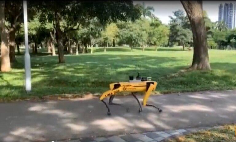 Κορονοϊός – Σιγκαπούρη: Ρομπότ… Κέρβερος επιθεωρεί για συνωστισμό! (vid)