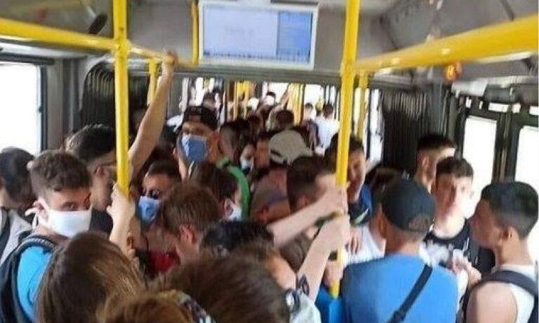 Ελληνικό-Σαρωνίδα: Απίθανη φωτογραφία – Τίγκα το λεωφορείο!