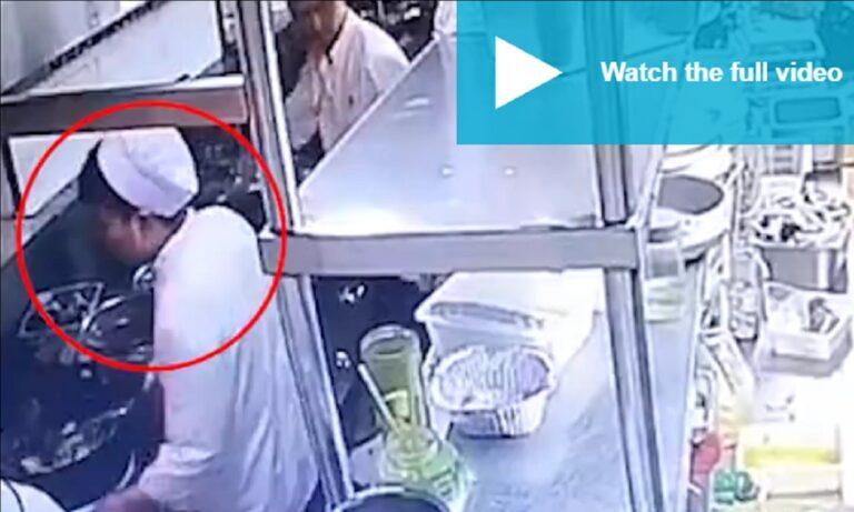 Κίνα: Μάγειρας σε εστιατόριο έφτυνε στο φαγητό και τον κατέγραψαν οι κάμερες (vid)