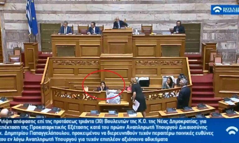 Βουλή – Νάντια Γιαννακοπούλου για Κεραμέως: «Θα τη σκίσω!» (vid)