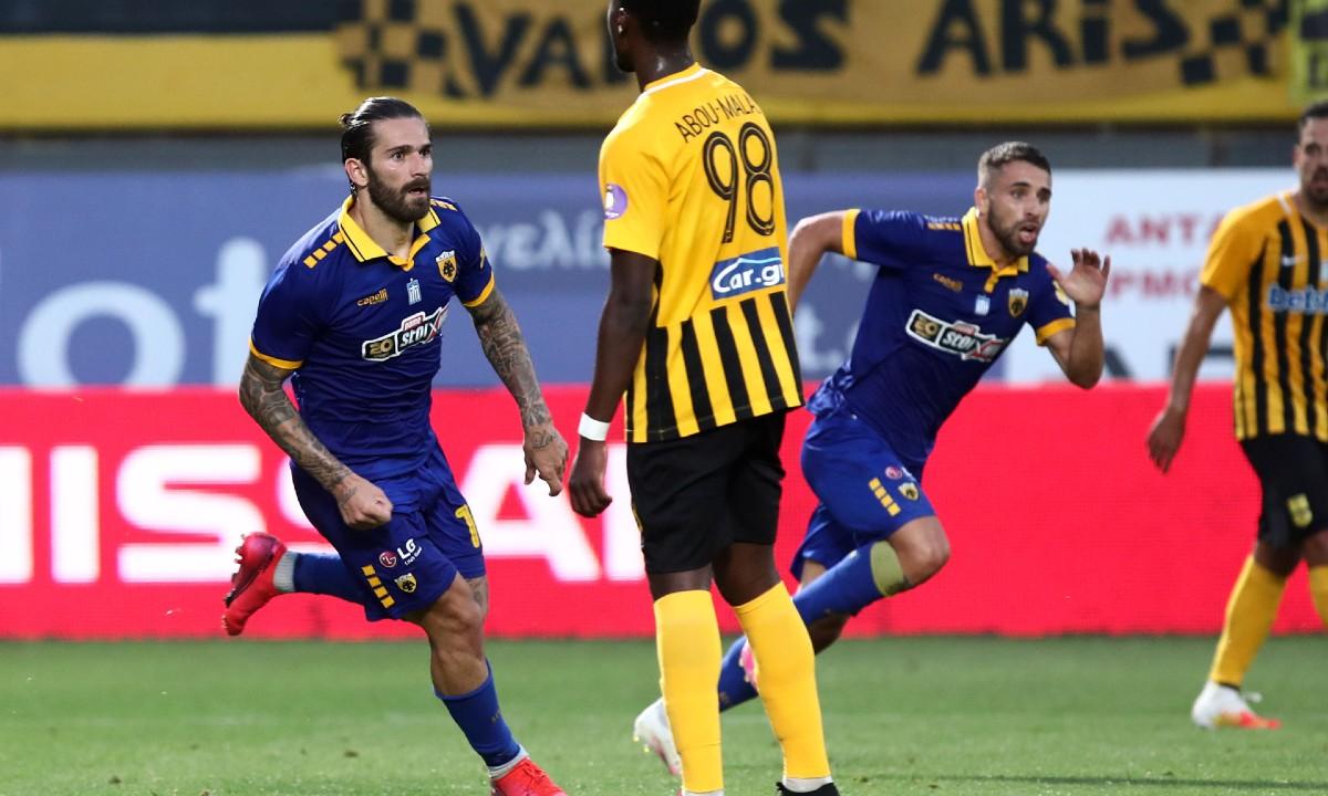 Άρης-ΑΕΚ: Το γκολ του Λιβάγια που έστειλε το ματς στην παράταση (vids)