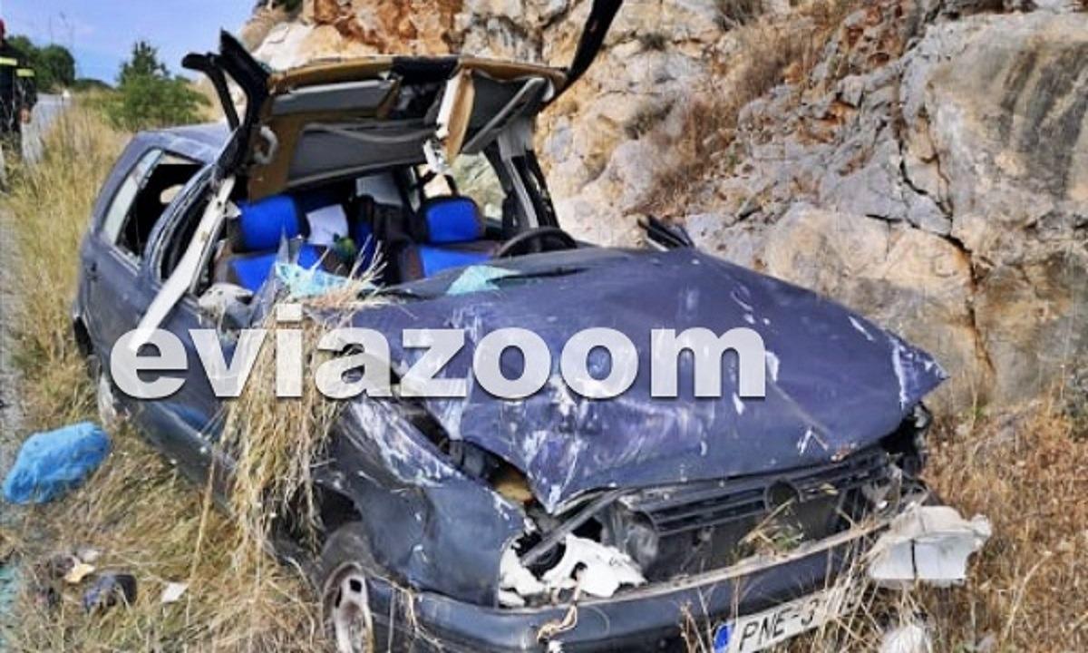 Τροχαίο με 71χρονη στο Αλιβέρι: Σμπαράλια έγινε το αυτοκίνητο (pic)