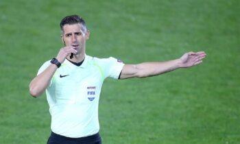 Παιχνίδι για τα Προκριματικά Παγκοσμίου Κυπέλλου θα σφυρίξει ο Τάσος Σιδηρόπουλος. Παρατηρητής του Γερμανού Μπριχ ο Γιώργος Μπίκας.