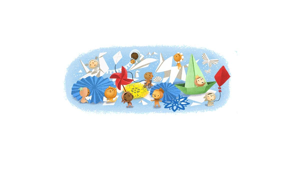 Google Doodle 1/6: Αφιερωμένο στην Ημέρα του Παιδιού