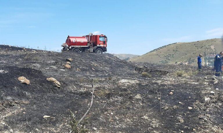 Κερατέα: Φωτιά δίπλα στο γήπεδο του Κεραυνού