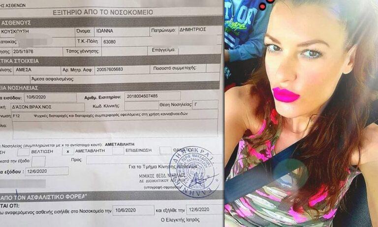Ιωάννα Κουσκούση: Βγήκε από το ψυχιατρείο!