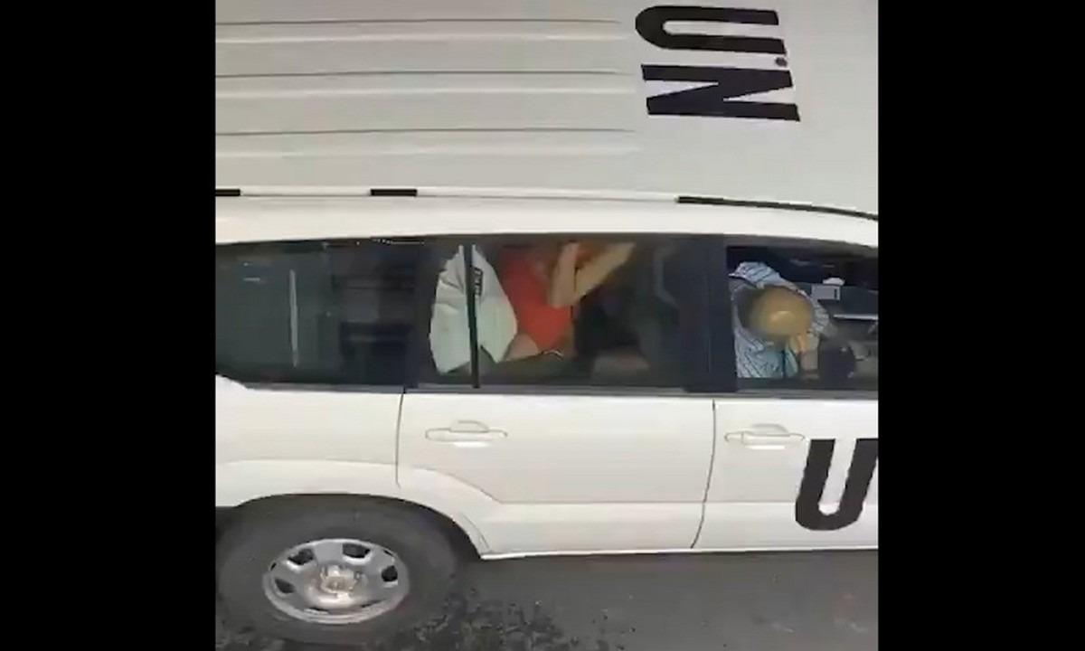 Έκαναν σεξ μέσα στο αμάξι των Ηνωμένων Εθνών! (video)