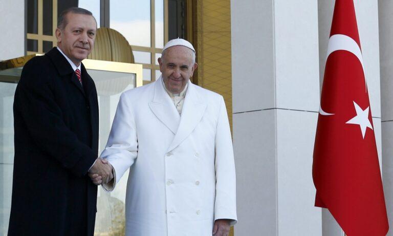 Ερντογάν: Προσκάλεσε για προσευχή στην Αγιά Σοφιά τον Πάπα Φραγκίσκο!
