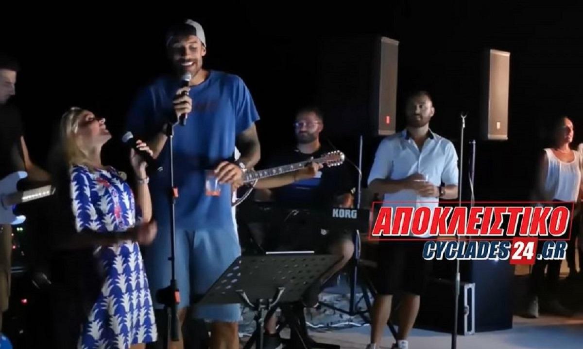 Πρίντεζης: Πήρε το μικρόφωνο και τραγούδησε με την Μπεκατώρου! (vid)