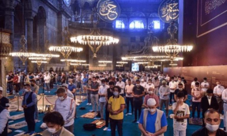 Αγία Σοφία: Η βεβήλωση συνεχίζεται οι Τούρκοι γιορτάζουν το μπαϊράμι