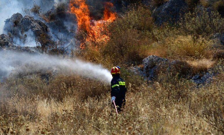 Κρήτη Μεγάλη φωτιά στη Λέσβο