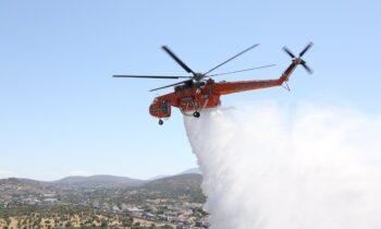 Λουτράκι: Πυρκαγιά στην Περαχώρα (pics)