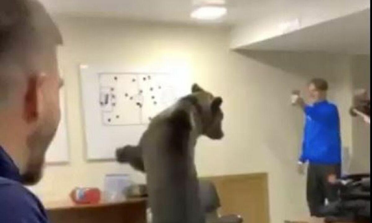 Απίστευτο: Αρκούδα μπήκε στα αποδυτήρια ποδοσφαιρικής ομάδας! (vid). Απίστευτο κι όμως αληθινό...