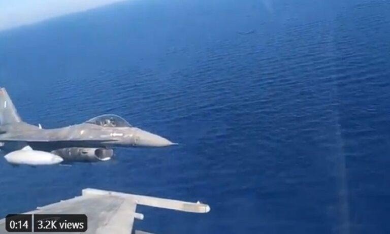 Οruc Reis: Aπίστευτο! Οι Τούρκοι έχουν βάλει χθεσινό βίντεο από ελληνικά F 16 και τα θαυμάζουν
