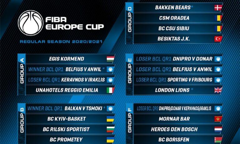 Ηρακλής: Η κλήρωση για το FIBA Europe Cup (pic)