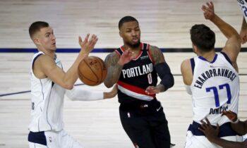 NBA: Ο Λίλαρντ σταμάτησε στους 61 πόντους, στα πλέι οφ οι Μπλέιζερς -Στο 7-0 οι Σανς (vids)