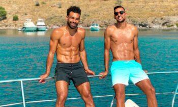 Ο Σαλάχ για διακοπές στην Ελλάδα με τον Χασάν του Ολυμπιακού (pics)