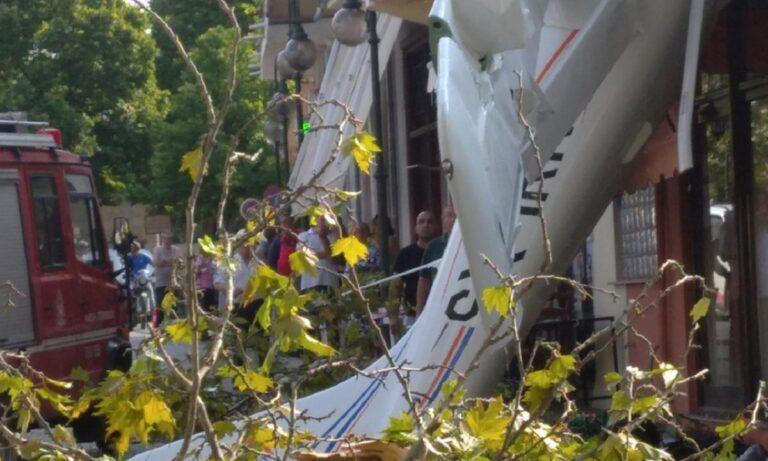 Σέρρες: Πτώση μονοκινητήριου αεροπλάνου σε σπίτι! (pics)